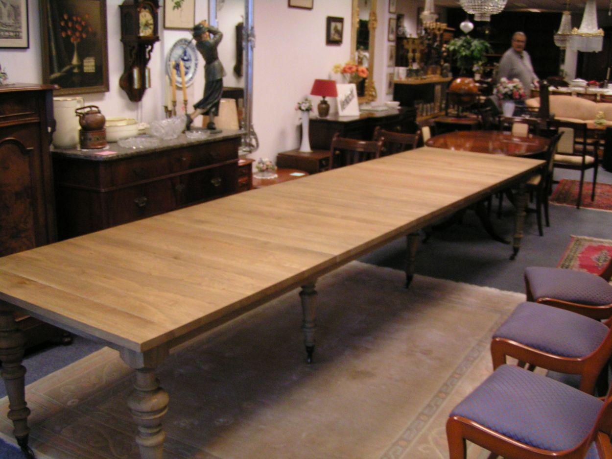 Eikenhouten Tafel 4 Meter.Tafels Bureaus Verkocht Artikelnr 1550 Grote Coulisse